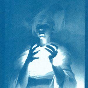 In Hands, Cyanotype on Fine Art Paper by Mae Klinger